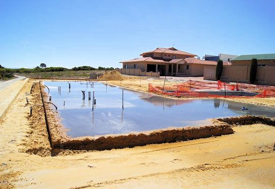 Concrete House Pad at Lurien Bay