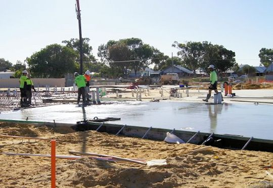 Large Concrete Pad by Jurien Concrete Services