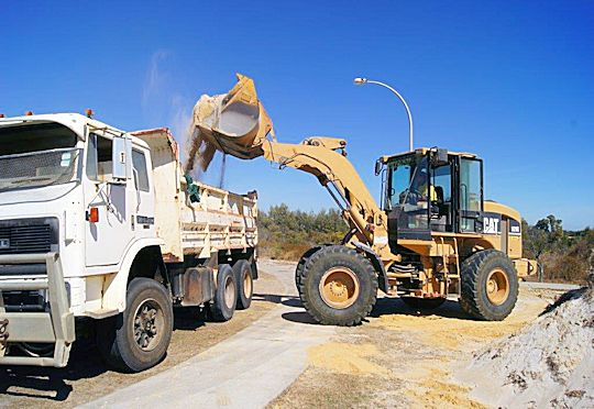 Loaders and Trucks for Hire